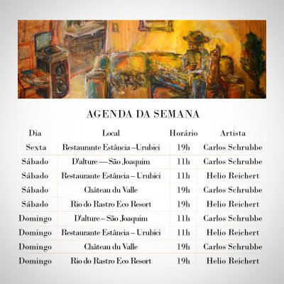 Agenda de Jazz- Outubro