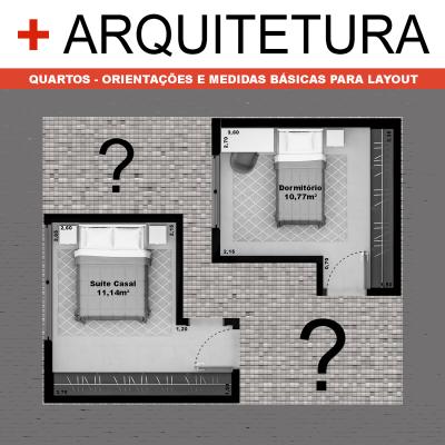 + ARQUITETURA: Quartos - Orientações e medidas básicas para layout.